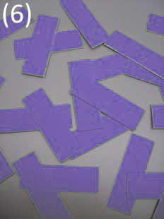 geschnitten in 24 adhäsive Chips Stoff einlagig kaschiert* auf starkem Papier (Chipgröße 4,5 cm x 1,5 cm) 20,50 €(Netto), 24,40 €(Brutto)